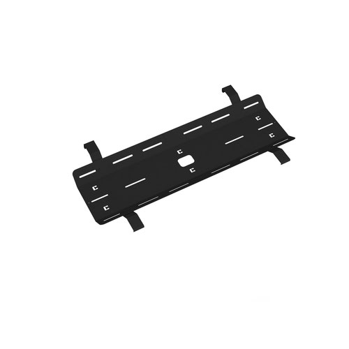 Single desk cable tray for Adapt and Fuze desks 1200mm - black