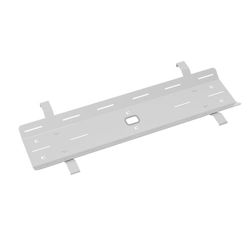 Double drop down cable tray & bracket for Adapt and Fuze desks 1200mm - silver