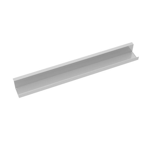 Single desk cable tray for Adapt and Fuze desks 1400mm - white