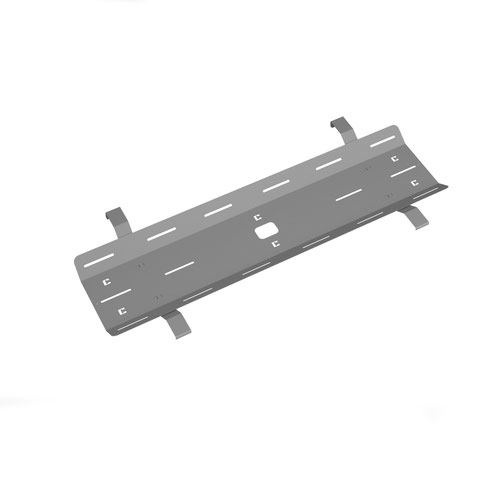 Double drop down cable tray & bracket for Adapt and Fuze desks 1400mm - silver