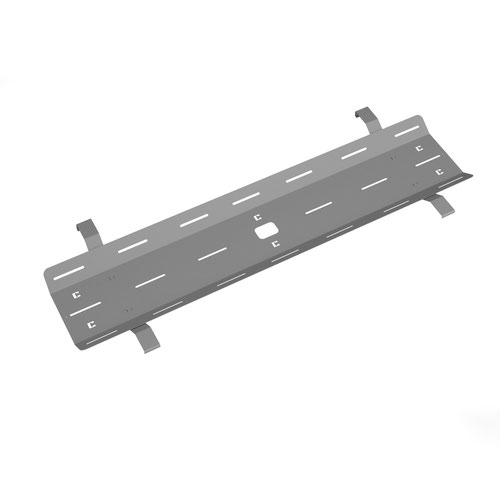 Single desk cable tray for Adapt and Fuze desks 1600mm - silver