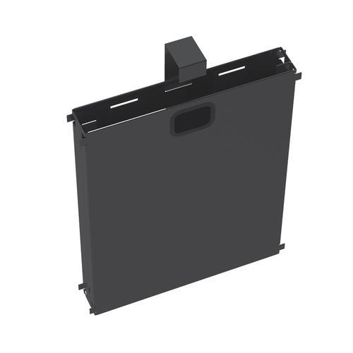 Adapt mass vertical cable riser for intermediate bench leg - black