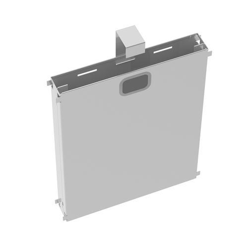 Adapt mass vertical cable riser for intermediate bench leg - silver
