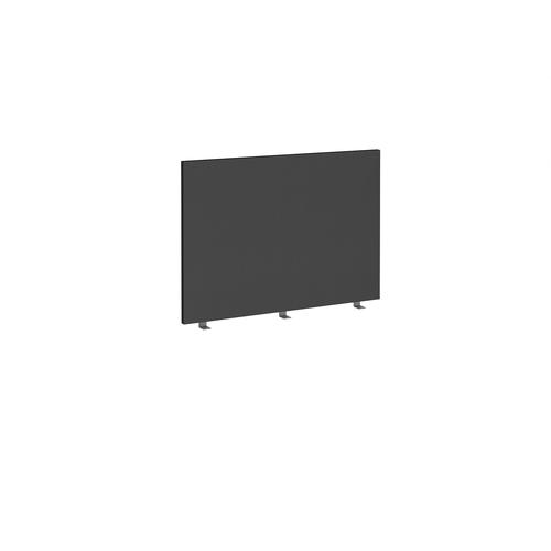 Straight high desktop fabric screen 1000mm x 700mm - black