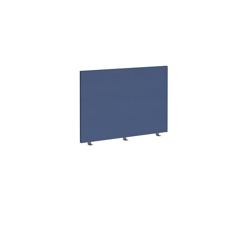 Straight high desktop fabric screen 1000mm x 700mm - cluanie blue