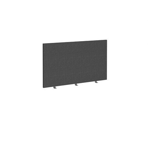 Straight high desktop fabric screen 1200mm x 700mm - charcoal