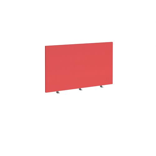 Straight high desktop fabric screen 1200mm x 700mm - pitlochry red