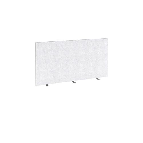Straight high desktop fabric screen 1400mm x 700mm - glass grey