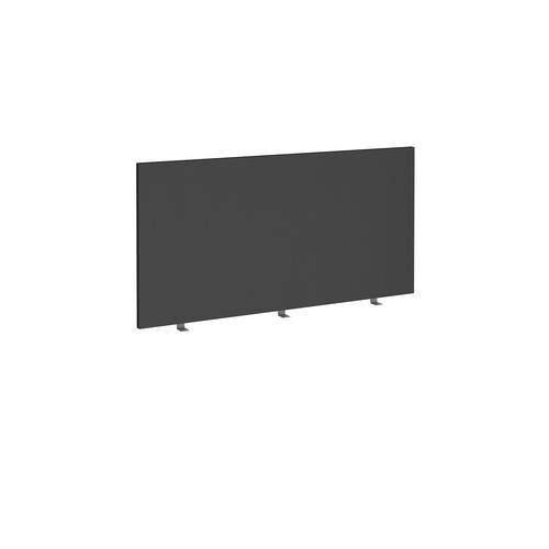 Straight high desktop fabric screen 1400mm x 700mm - black