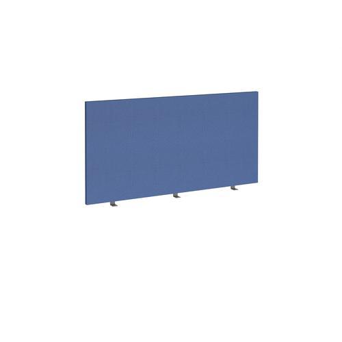 Straight high desktop fabric screen 1400mm x 700mm - adriatic blue