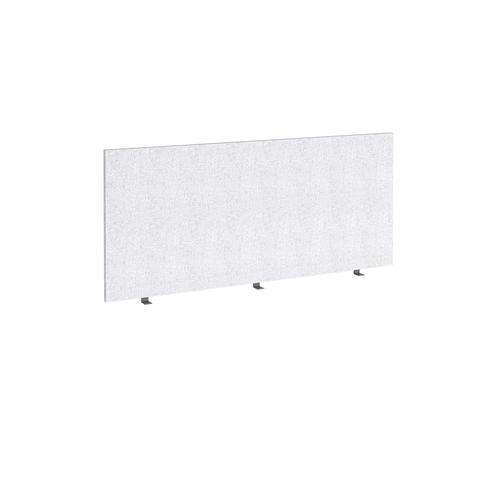 Straight high desktop fabric screen 1600mm x 700mm - glass grey