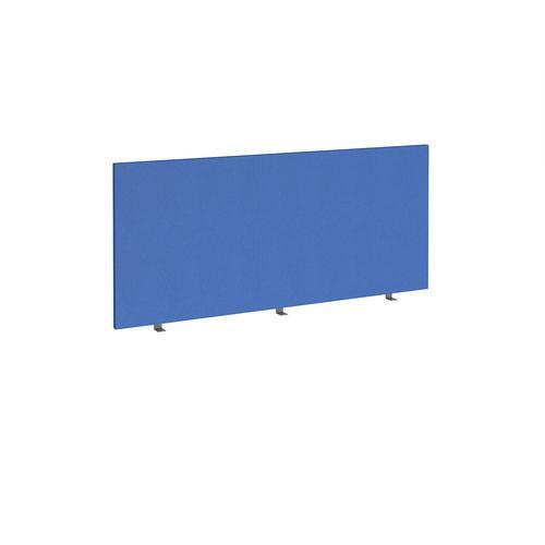 Straight high desktop fabric screen 1600mm x 700mm - galilee blue