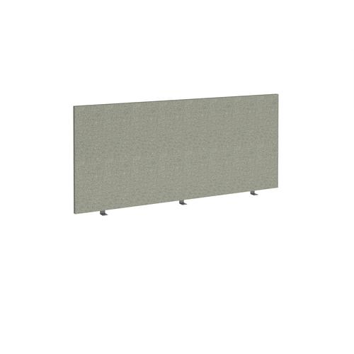 Straight high desktop fabric screen 1600mm x 700mm - hillswick grey