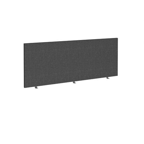 Straight high desktop fabric screen 1800mm x 700mm - charcoal