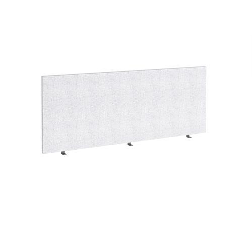 Straight high desktop fabric screen 1800mm x 700mm - glass grey