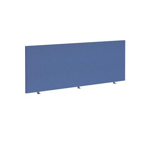 Straight high desktop fabric screen 1800mm x 700mm - adriatic blue