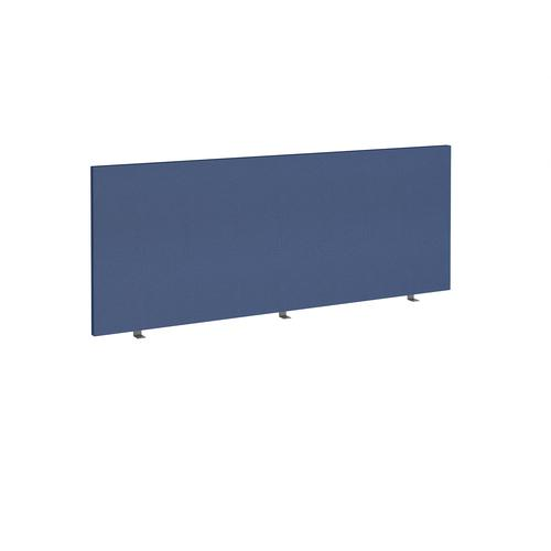Straight high desktop fabric screen 1800mm x 700mm - cluanie blue
