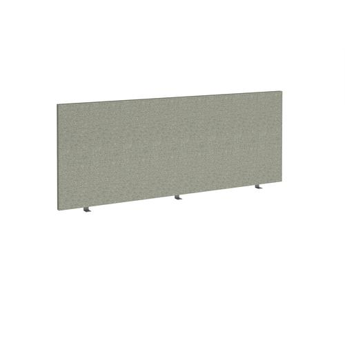 Straight high desktop fabric screen 1800mm x 700mm - hillswick grey