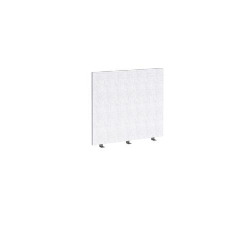 Straight high desktop fabric screen 800mm x 700mm - glass grey
