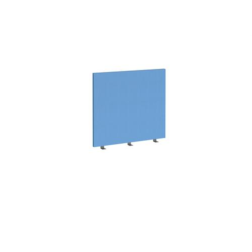 Straight high desktop fabric screen 800mm x 700mm - inverness blue
