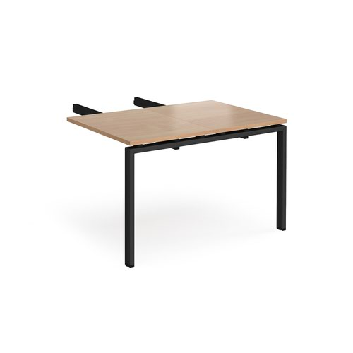 Image for Adapt add on unit double return desk 800mm x 1200mm - black frame and beech top