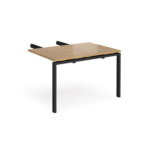 Image for Adapt add on unit double return desk 800mm x 1200mm - black frame and oak top