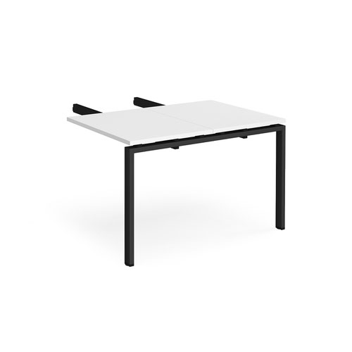 Image for Adapt add on unit double return desk 800mm x 1200mm - black frame and white top