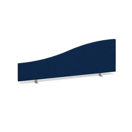 Image for Wave desktop fabric screen 1200mm x 400mm/200mm - blue