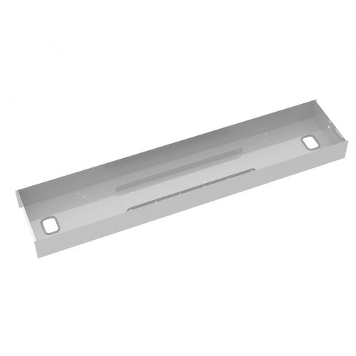 Elev8 lower cable channel with cover for back-to-back 1400mm desks - silver