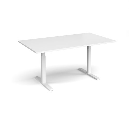 Elev8 Touch boardroom table 1800mm x 1000mm - white frame and white top