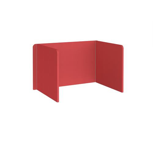 Free-standing 3-sided 700mm high fabric desktop screen 1200mm wide - pitlochry red