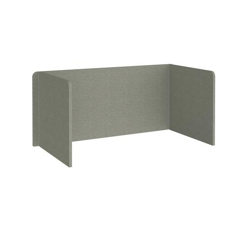 Free-standing 3-sided 700mm high fabric desktop screen 1600mm wide - hillswick grey