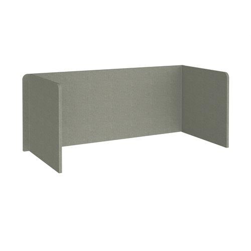 Free-standing 3-sided 700mm high fabric desktop screen 1800mm wide - hillswick grey