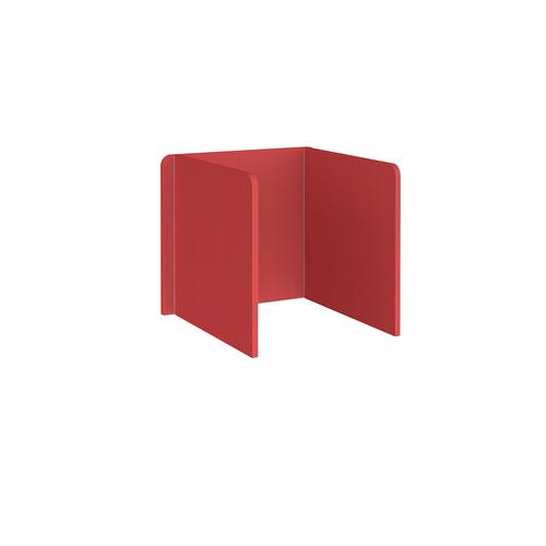 Free-standing 3-sided 700mm high fabric desktop screen 800mm wide - pitlochry red