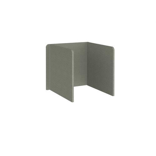 Free-standing 3-sided 700mm high fabric desktop screen 800mm wide - hillswick grey