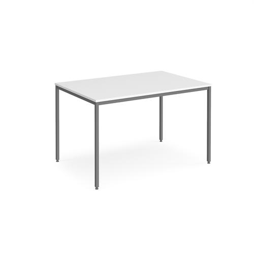 Rectangular flexi table with graphite frame 1200mm x 800mm - white