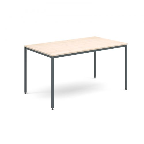 Image for Rectangular flexi table with graphite frame 1400mm x 800mm - maple