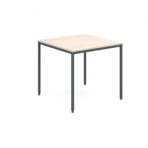Image for Rectangular flexi table with graphite frame 800mm x 800mm - maple