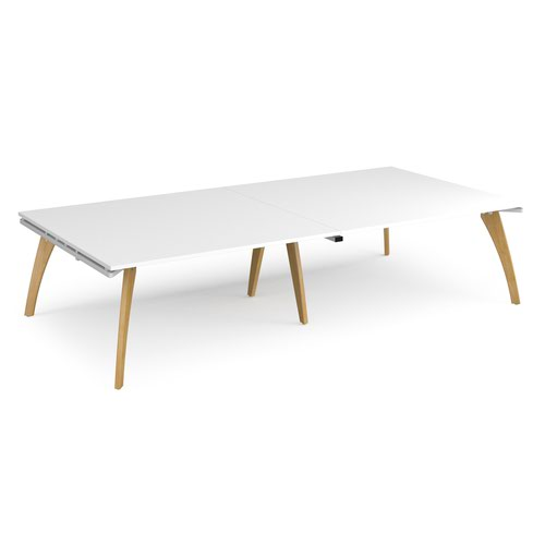 Fuze rectangular boardroom table 3200mm x 1600mm - white frame and white top