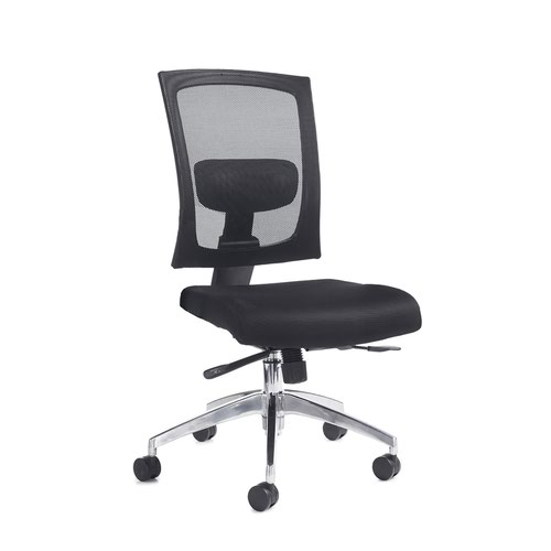 Image for Gemini mesh task chair with no arms - black