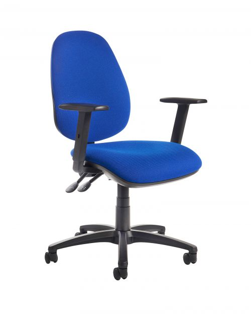 Image for Jota high back operator chair with adjustable arms - blue
