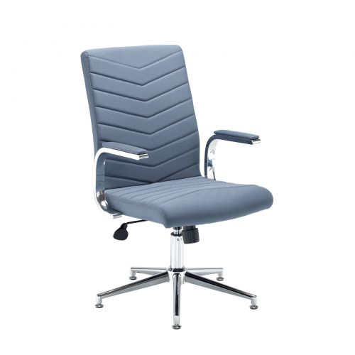 Image for Martinez high back managers chair - grey fabric