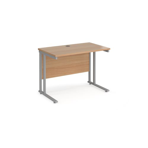 Maestro 25SL Rectangular Desk 1000x600x725mm Beech MC610B