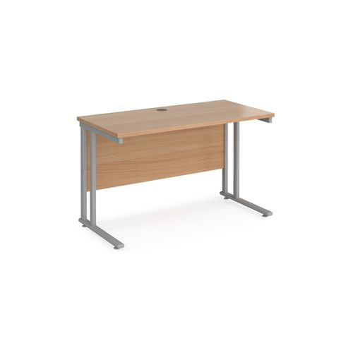 Maestro 25SL Rectangular Desk 1200x600x725mm Beech MC612B