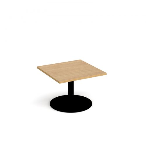 Black Oak Round Coffee Table: Monza Square Coffee Table With Flat Round Black Base 700mm