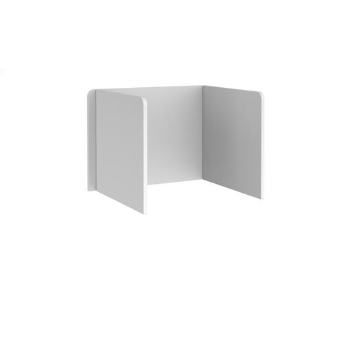 Free-standing 3-sided 700mm high mfc white desktop screen - 1000mm wide