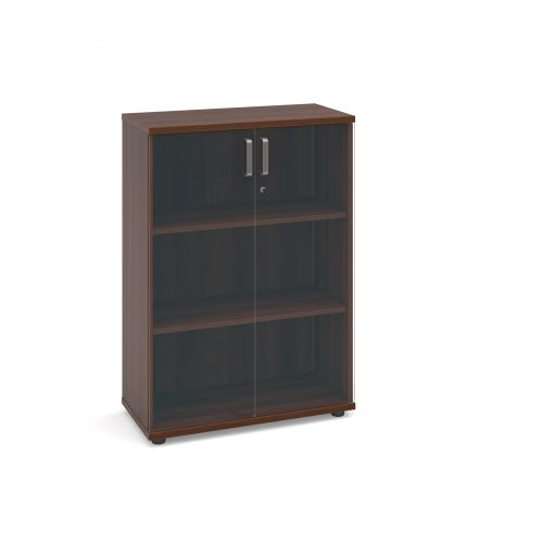 Image for Magnum low cupboard with glass doors 1130mm high - american walnut