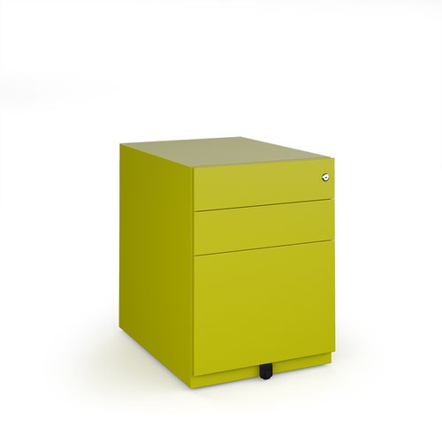 Bisley wide steel pedestal 420mm wide - green