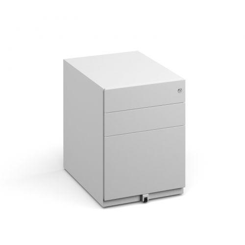 Bisley wide steel pedestal 420mm wide - white