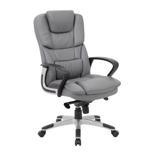 Palermo high back executive chair - grey faux leather